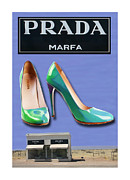 Prada Art - Shoes art far West Texas by Jack Pumphrey