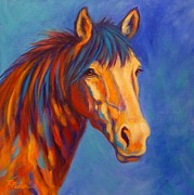 Colorful Horse Paintings - Sienna by Theresa Paden