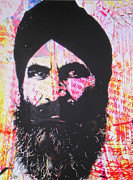 Etc. Painting Metal Prints - Sikh Warrior Metal Print by Joseph Diaz