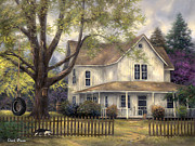 American Home Paintings - Simple Country by Chuck Pinson