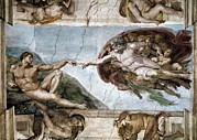 Creation Of Adam Posters - Sistine Chapel. The Creation Of Adam Poster by Everett