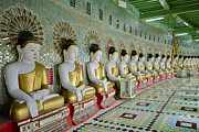 Civilizations Originals - sitting Buddhas in Umin Thonze Pagoda by Juergen Ritterbach