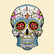 Sugar Skull Digital Art - Skull 10 by Mark Ashkenazi