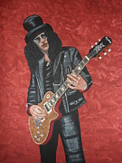 Slash Painting Posters - Slash Poster by Tammy Rekito
