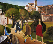 Fine Art  Of Women Paintings - Slice Of Life 2 Provence by William Cain