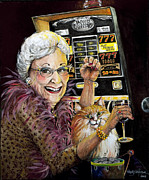 Slot Machine Queen Print by Shelly Wilkerson