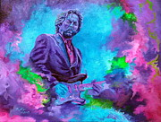 Eric Clapton Painting Metal Prints - Slowhand Metal Print by Kathleen Kelly Thompson
