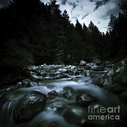 World Rock Posters - Small River Flowing Over Stones Covered Poster by Evgeny Kuklev