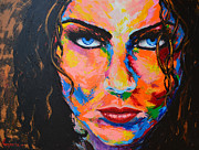 Ideas Paintings - Smokey Eyes by Patricia Awapara