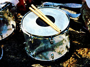 Drum Sticks Prints - Snare Drum Print by Susan Savad