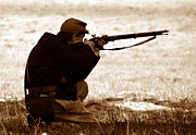 Young Man Photo Prints - Sniper in the shadows Print by David Lee Thompson