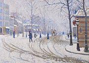 Paul Signac - Snow  Boulevard de Clichy  Paris