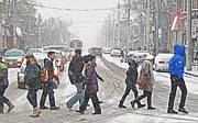 Winter Roads Photos - Snowy Crossing by Keith Armstrong