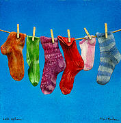 Stockings Painting Prints - Sock Options... Print by Will Bullas