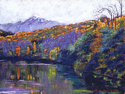 Popular Paintings - Soft Lake by David Lloyd Glover