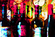 Wine-bottle Digital Art Prints - Some Things Get Better With Time m20 Print by Wingsdomain Art and Photography