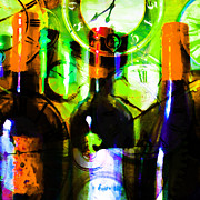 Wine-bottle Digital Art - Some Things Get Better With Time - Square p28 by Wingsdomain Art and Photography