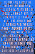 Sonnet Framed Prints - Sonnet 18 Deep Blue Framed Print by M Gilmore