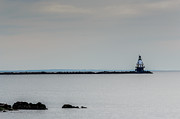 Ledge Framed Prints - Southwest Ledge Light Framed Print by Randy Scherkenbach
