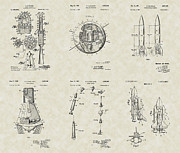 Satellite Drawings Posters - Space Patent Collection Poster by PatentsAsArt