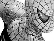 Avengers Drawings - Spider-Man by Kayleigh Semeniuk