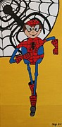 Spiderman Paintings - Spiderman by Gigi Croom