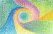 Soul Pastels Prints - Spiral of Life Print by Judith Chantler