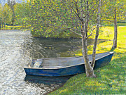 Birdseye Painting Posters - Spring at the Pond Poster by Nick Payne