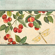 Butterfly Paintings - Spring Cherries-1 by Jean Plout