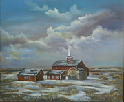 Winter Scene  For Sale Paintings - Spring Thaw by  Luczay