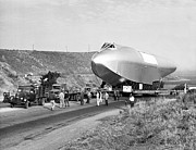 Spruce Goose Photos - Spruce Goose Hull On The Move by Underwood Archives