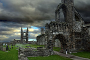 Nave Posters - St Andrews Cathedral and gravestones Poster by RicardMN Photography