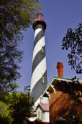 Watchtower Posters - St Augustine Lighthouse - Old Florida Charm Poster by Christine Till