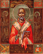 Saint Nicholas Paintings - St. Nicholas by Yordanka Karalamova