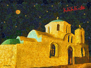 Silent Night Paintings - St. Nicolas by George Rossidis