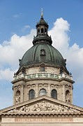 Carving Posters - St. Stephens Basilica Dome in Budapest Poster by Artur Bogacki