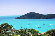 Turquiose  Metal Prints - St Thomas harbor Metal Print by Aimee L Maher