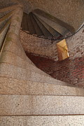 Wingsdomain Art and Photography - Stair Well at San Francisco Fort Point...