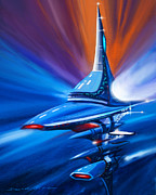 Starship Painting Posters - Star Drive Poster by James Christopher Hill