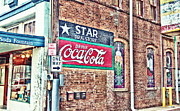 Soda Fountain Framed Prints - Star Drug Store Wall Sign - HDR Framed Print by Scott Pellegrin