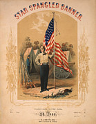 Star-spangled Banner Posters - Star Spangled Banner Poster by Digital Reproductions