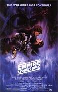 Movies Framed Prints - Star Wars The Empire Strikes Back  poster Framed Print by Sanely Great