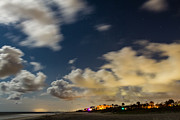 Moonlit Night Photos - Starry Night Over Main Beach  by Dawna  Moore Photography