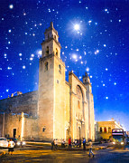 Church Street Digital Art Framed Prints - Stars Shine on Merida Framed Print by Mark E Tisdale
