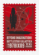 Science Fiction Art - Starschips 02-poststamp - Battlestar Galactica by Chungkong Art