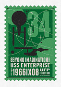 Science Fiction Art - Starschips 34-poststamp - USS Enterprise by Chungkong Art