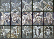 Egg Tempera Originals - Stations of the Cross by Mary jane Miller