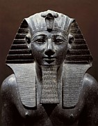 Statue Portrait Photos - Statue Of Tuthmosis Iii. 1490 -1439 Bc by Everett