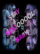 Shirt Digital Art Framed Prints - Stay Kool Baby Framed Print by The Stone Age