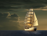 Historic Schooner Originals - Steadfast Voyage by James Charles